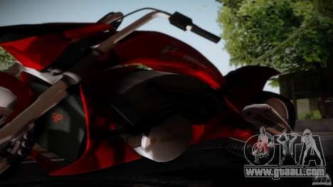Predator Superbike for GTA San Andreas back left view