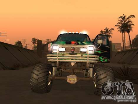 Ford Grave Digger for GTA San Andreas back left view