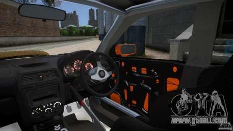 Subaru Impreza WRX STi GDB Team Orange for GTA 4 inner view