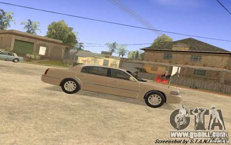 Lincoln Towncar Secret Service for GTA San Andreas back left view