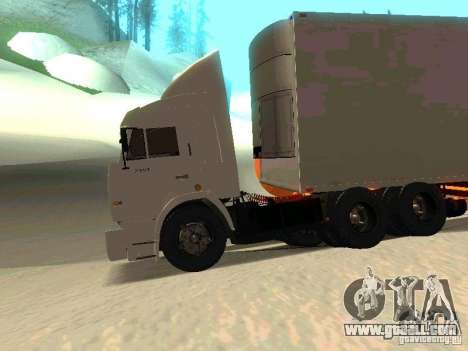 KAMAZ 54115 for GTA San Andreas back view