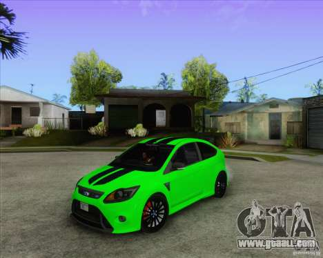 Ford Focus RS for GTA San Andreas inner view
