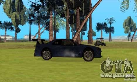 Nissan Skyline R34 GT-R LM for GTA San Andreas bottom view