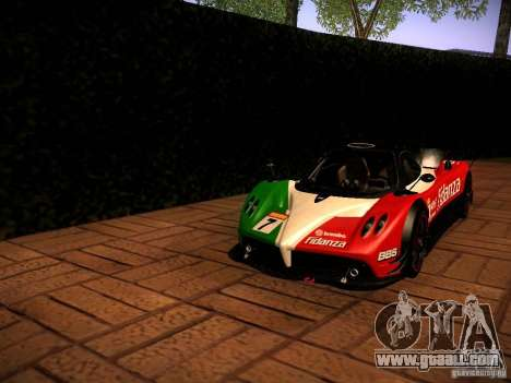 Pagani Zonda R for GTA San Andreas back view