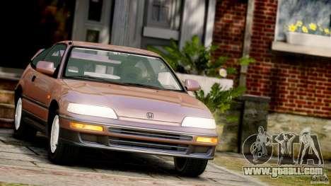 Honda CR-X SiR 1991 for GTA 4