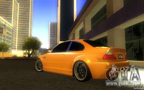 BMW M3 E46 V.I.P for GTA San Andreas upper view