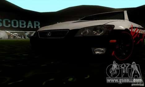 Lexus IS300 for GTA San Andreas inner view