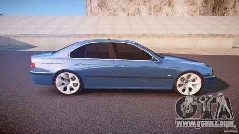 BMW 530I E39 e63 white wheels for GTA 4 side view
