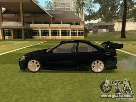 Honda Civic Coupe 1995 from FnF 1 for GTA San Andreas inner view