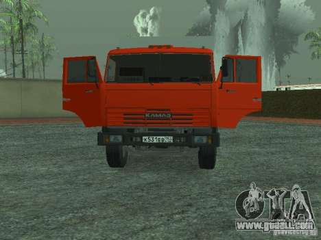 KAMAZ 53215 garbage truck for GTA San Andreas back view