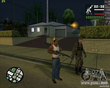 Throwing weapons for GTA San Andreas