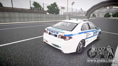 Honda Accord Type R NYPD (City Patrol 1090) ELS for GTA 4 side view