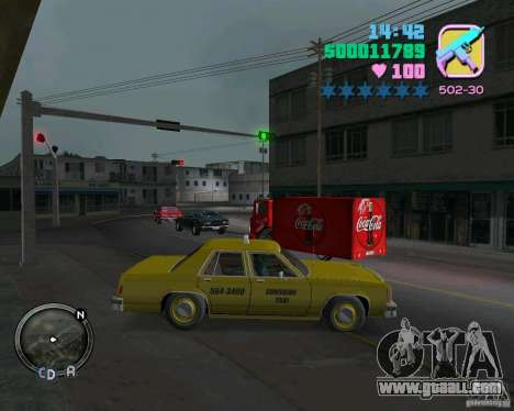 Ford Crown Victoria LTD 1985 Taxi for GTA Vice City left view