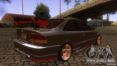 Honda Civic SI for GTA San Andreas right view