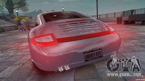Porsche Targa 4S 2009 for GTA 4 back left view