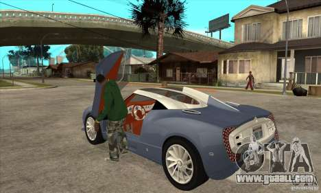Spyker C12 Zagato for GTA San Andreas back left view