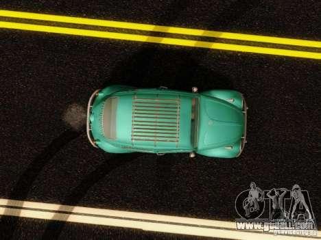 Volkswagen Beetle 1300 for GTA San Andreas inner view