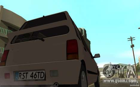 Daewoo Tico SX for GTA San Andreas back left view