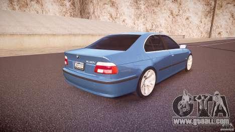 BMW 530I E39 e63 white wheels for GTA 4 upper view