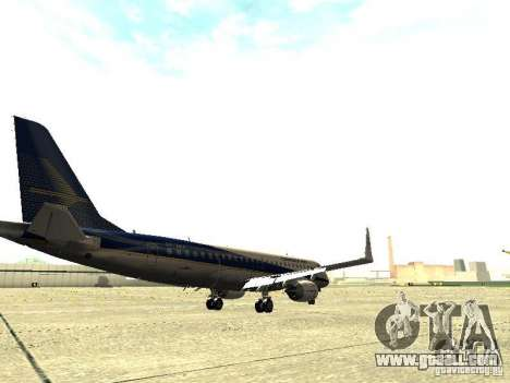 Embraer E-190 for GTA San Andreas right view