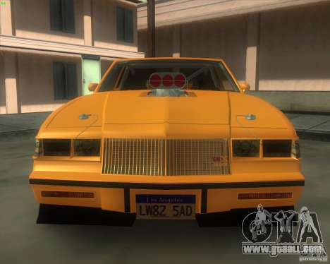 Buick GNX pro stock for GTA San Andreas right view