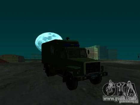GAZ 3309 paddy wagon for GTA San Andreas back view