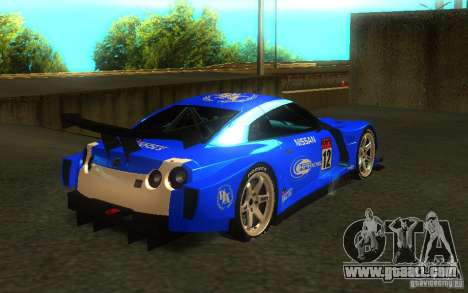 Nissan Skyline R35 GTR for GTA San Andreas left view