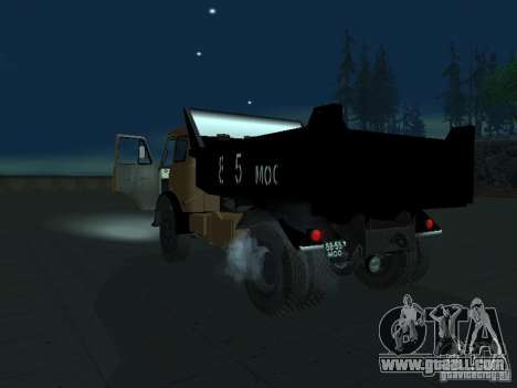 MAZ 503a dump truck for GTA San Andreas left view