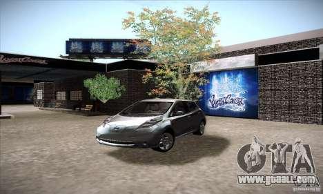 Nissan Leaf 2011 for GTA San Andreas
