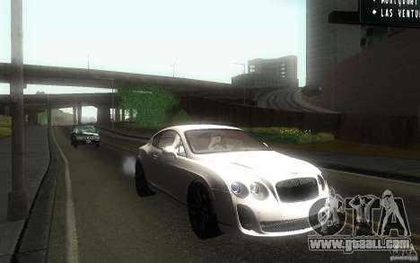 Bentley Continental SS for GTA San Andreas back view
