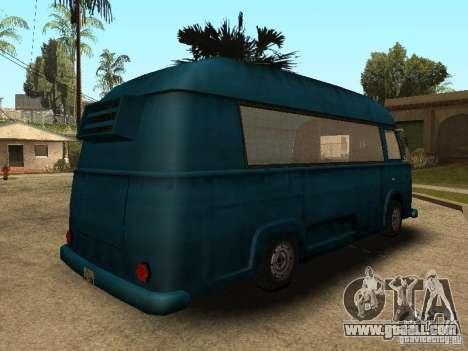 Civilian Hotdog Van for GTA San Andreas back left view