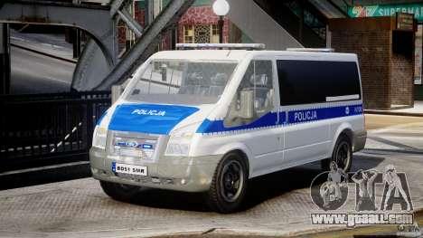 Ford Transit Polish Police [ELS] for GTA 4
