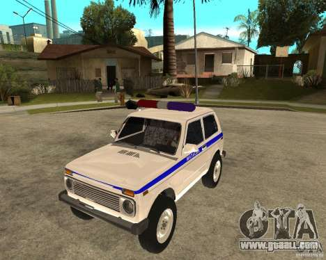 VAZ 2121 Police for GTA San Andreas