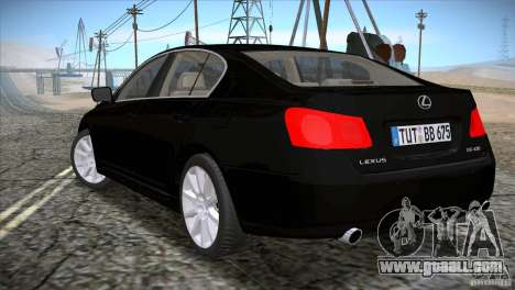 Lexus GS430 for GTA San Andreas left view