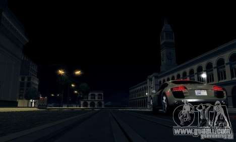 Audi R8 5.2 FSI Quattro for GTA San Andreas back left view