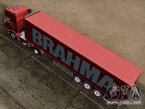 Scania R620 Brahma for GTA San Andreas interior