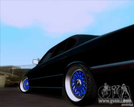 BMW 5-er E34 for GTA San Andreas back view