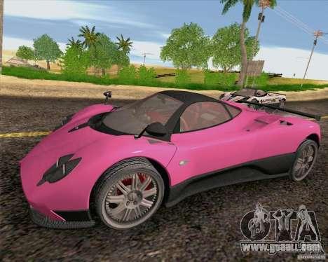 Pagani Zonda F v2 for GTA San Andreas left view