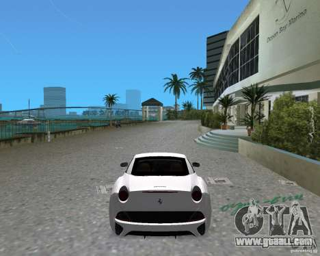 Ferrari California for GTA Vice City left view
