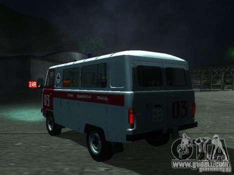 UAZ 3962 ambulance for GTA San Andreas back left view