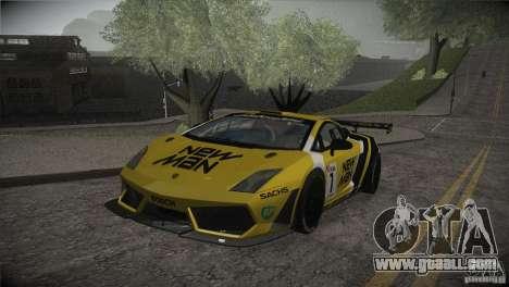 Lamborghini Gallardo LP560-4 GT3 for GTA San Andreas engine