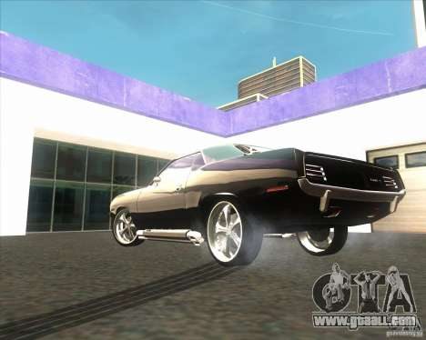 Plymouth Barracuda for GTA San Andreas back view