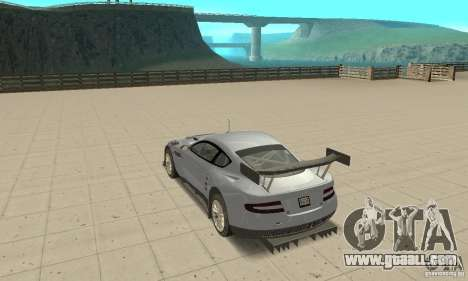 Aston Martin DBR9 (v1.0.0) for GTA San Andreas back left view