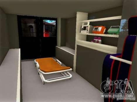 Ford E-350 Ambulance v2.0 for GTA San Andreas right view