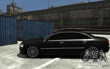 Audi A8L W12 Quattro for GTA 4 left view