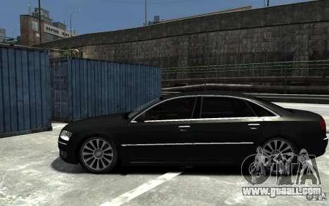 Audi A8L W12 Quattro for GTA 4 left view