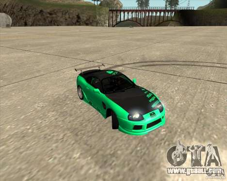 Toyota Supra ZIP style for GTA San Andreas bottom view
