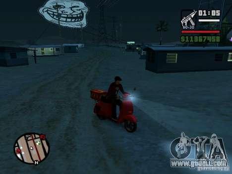 Trollface Moon for GTA San Andreas third screenshot