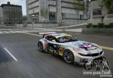 BMW Z4 GT3 2010 V.2.0 for GTA 4 right view