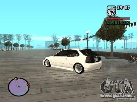 Honda Civic EK9 JDM for GTA San Andreas left view